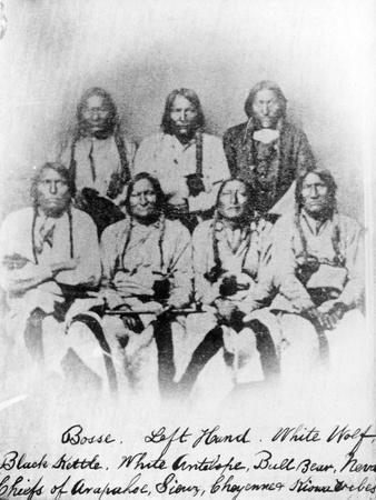 Bosse, Left Hand, White Wolf, Black Kettle, White Antelope, Bull Bear, Neva: Chiefs of Arapahoe,…