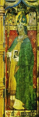 St Ambrose, Detail of the Rood Screen, St Catherine's Church, Ludham, Norfolk, Uk