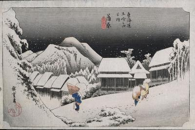 Night Snow, Kambara, Illustration from the Series 'Fifty-Three Stations on the Tokaido', C.1834-35