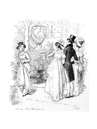 No, No, Stay Where You Are', Illustration from 'Pride and Prejudice' by Jane Austen, Edition…