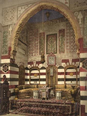 Interior of a Reception Room in a Fine House, Damascus, C.1880-1900