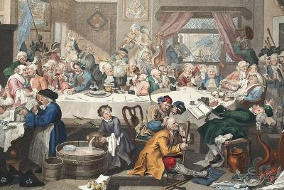 An Election Entertainment, Illustration from 'Hogarth Restored: the Whole Works of the Celebrated…
