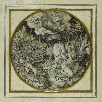 Hagar and Ishmael - Design for a Pendant or Hat Badge, C.1532-43