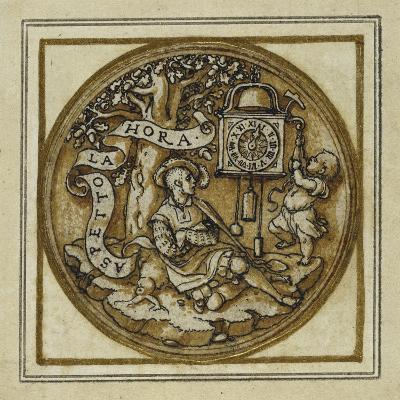 Allegory of Time - Design for a Pendant or Hat Badge, C.1532-43