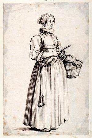 Figure with Basket and Knife