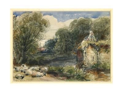 Landscape with Sheep and Ruins, 1851