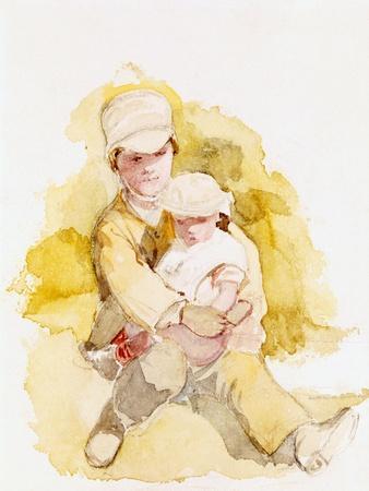 Sketch of Two Children, C.1852