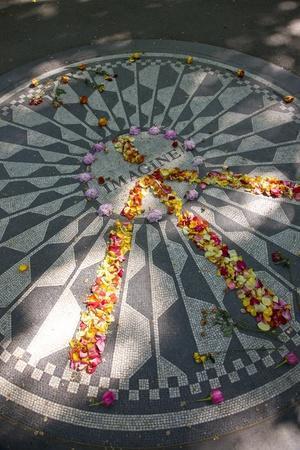 John Lennon Tribute in Strawberry Fields in Central Park, New York
