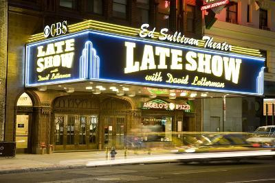 Ed Sullivan Theater Advertising the Late Show