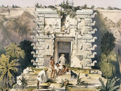 Gateway of the Great Teocallis, from 'Views of Ancient Monuments in Central America, Chiapas and…
