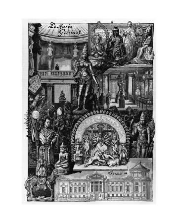 Inauguration of the Musée Guimet in Paris on 20 November, 1899, from 'L'Illustration' Magazine,…