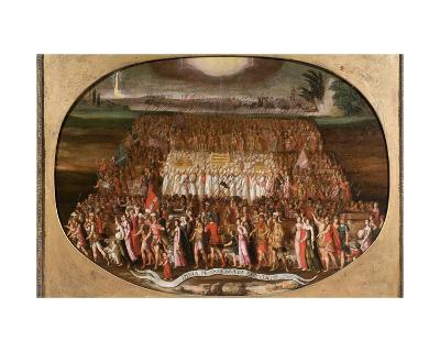 The Exodus of the Twelve Tribes of Israel with the Ark of the Covenant