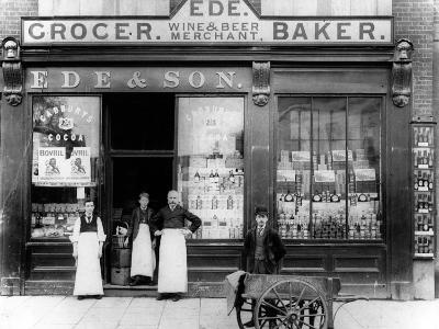Ede and Son Grocer, Wine and Beer Merchant, Baker, C.1890