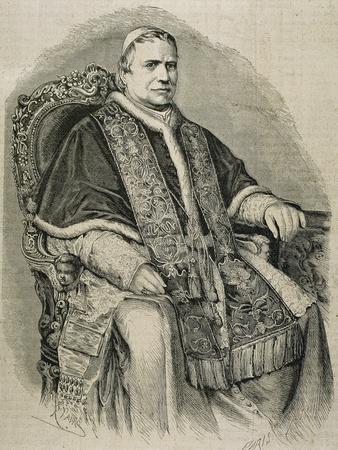 Pius IX (1792-1878). Italian Pope