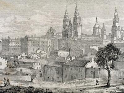 Galicia. Santiago De Compostela. Province of a Coruna. Partial View of the City with the…