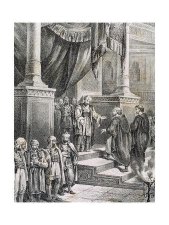 Abd-Ar-Rahman III (889- 961). Emir and Caliph of Al-Andalus. Caliph's Reception of the Monk John…
