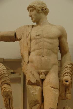 Apollo. Decoration of the Temple of Zeus in the Sanctuary of Olympia. Greece