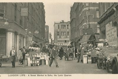 London Life, a Street Market in Soho, the Latin Quarter
