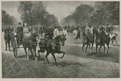 Afternoon in Hyde Park, London: Rotten Row