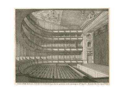 Theatre Royal, Covent Garden, London, as Altered Previous to the Opening on 15 September 1794