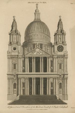 A Geometrical Elevation of the Western Front of St Paul's Cathedral