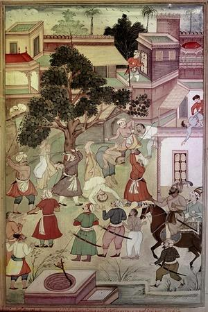 """An Illustration for the 14th Century Persian Story """"The History of the Mongols"""""""