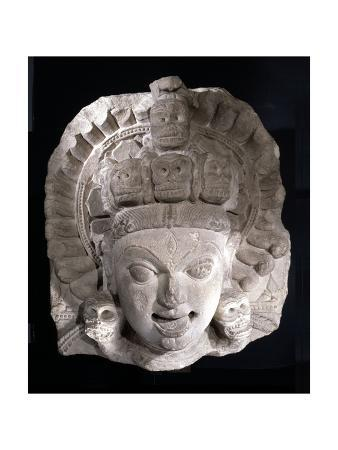 Head from a Statue of the Goddess Kali