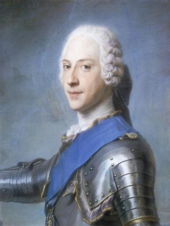 Portrait of Prince Charles Edward Stuart, Bust Length, in Profile to the Left, His Head Turned to…