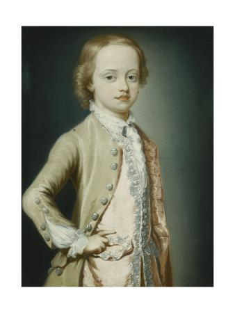 Portrait of the Hon. William Napier, 1735, Aged Eight, Three-Quarter Length, Wearing a Green…