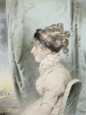 Portrait of a Lady, Identified as Eliza Were Holdsworth, Seated, Half Length, in Profile to the…