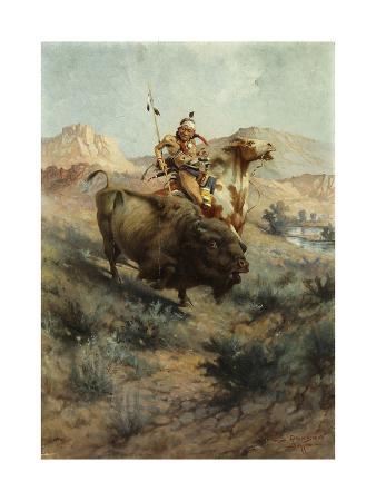 Indian and Buffalo, 1891