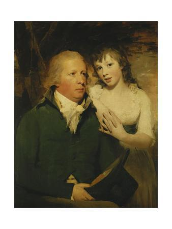 Portrait of Sir Alexander Don, Seated Half Length, Seated in a Green Coat with His Daughter,…