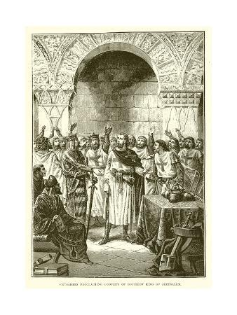 Crusaders Proclaiming Godfrey of Bouillon King of Jerusalem