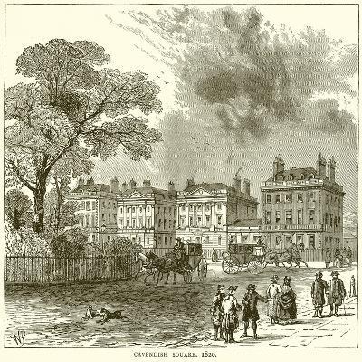 Cavendish Square, 1820