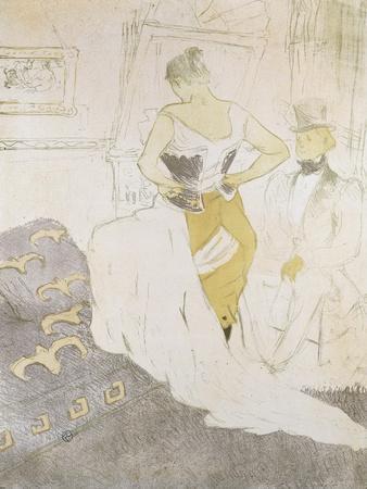 Woman in a Corset, from Elles; Femme En Corset, from Elles, 1896