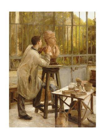 A Sculptor in His Studio