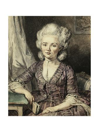 A Young Lady Seated by a Table with a Book, 1785