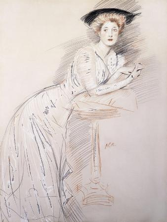 Portrait of Miss Taylor Leaning on a Table
