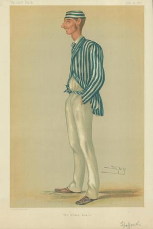 Mr Markham Spofforth, the Demon Bowler, 13 July 1878, Vanity Fair Cartoon