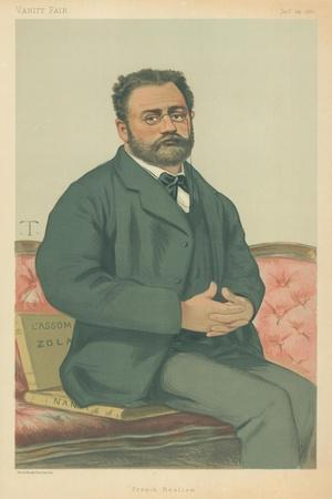 M Emile Zola, French Realism, 24 January 1880, Vanity Fair Cartoon