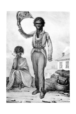 Bungaree, a Native Chief of New South Wales, Engraved by Charles Joseph Hullmandel, 1830