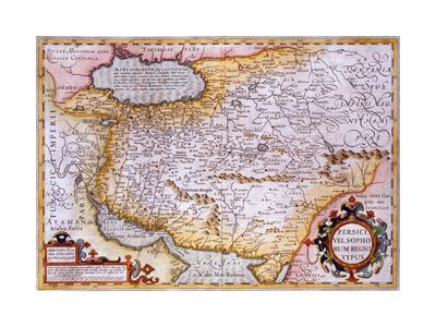 Map of Persia, 1638