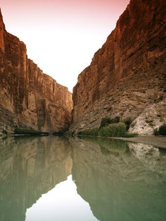 Bluffs Above Rio Grande in Big Bend National Park, Texas