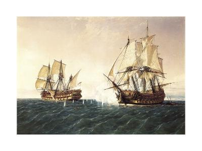 Combat Between the Spanish Ship 'Catalan' and the British Ship 'Mary' in 1819, 1888
