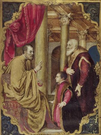 Venetian Senator or Doge Presenting His Son to His Patron Saint