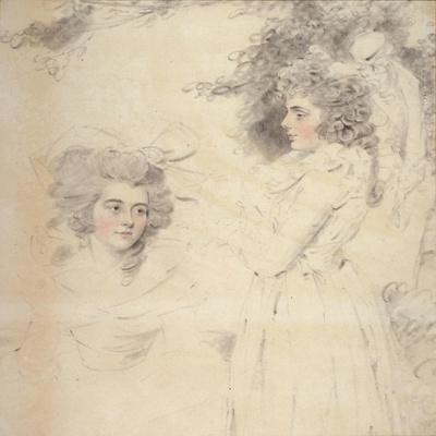 Portrait of Georgiana, Duchess of Devonshire and Lady Elizabeth Foster