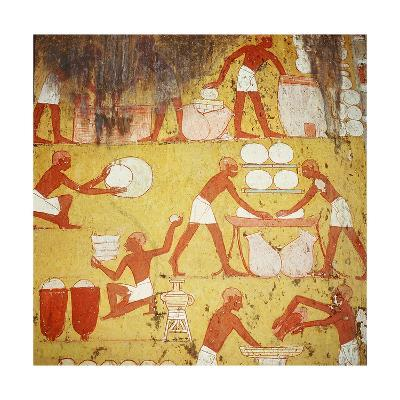 Painting in the Tomb of Qenamun, West Thebes