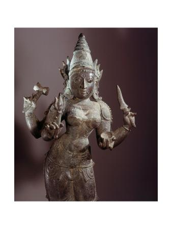 A Statue of Kali with Four Arms
