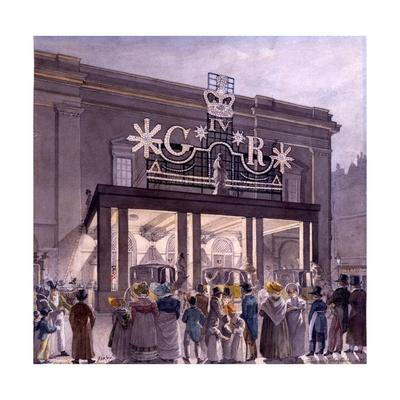 Outside the Theatre Royal, Drury Lane, 1821