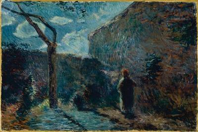Along the Wall at Nightfall, 1881